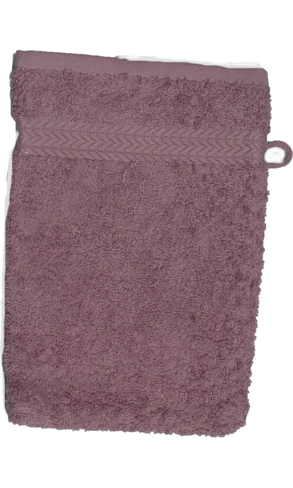 Gant de toilette 16 x 22 cm en Coton couleur Mûre