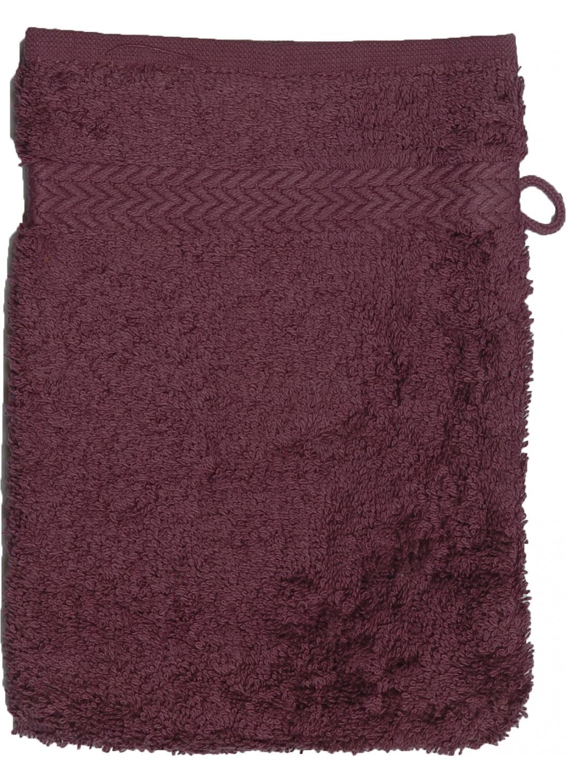 Gant de toilette 16 x 22 cm en Coton couleur Myrtille (Myrtille)