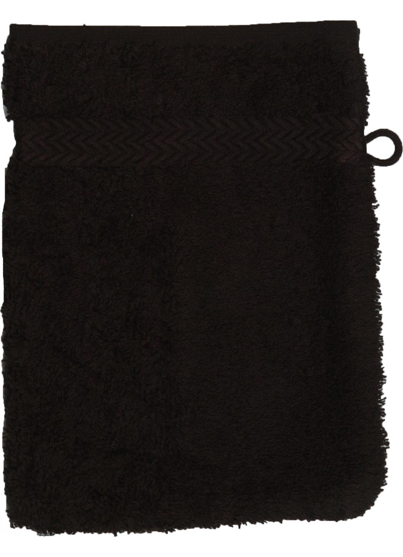 Gant De Toilette 16 X 22 Cm En Coton Couleur Noir Noir Homebain