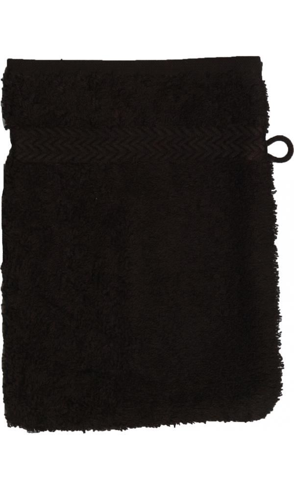 Gant de toilette 16 x 22 cm en Coton couleur Noir