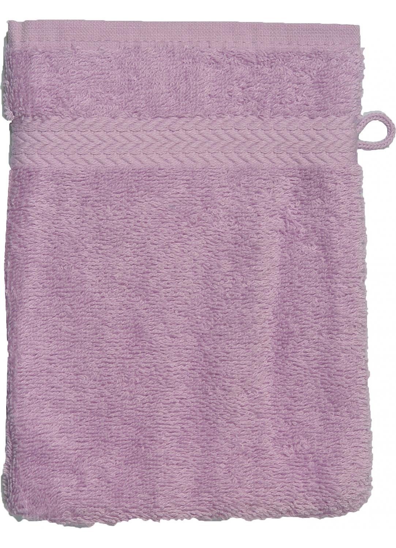 Gant de toilette 16 x 22 cm en Coton couleur Parme (Parme)