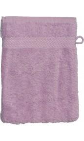 Gant de toilette 16 x 22 cm en Coton couleur Parme