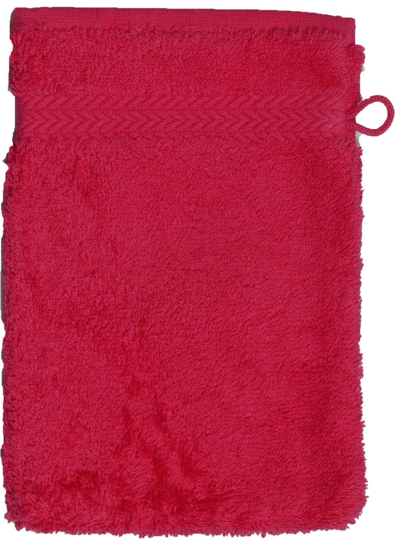 Gant de toilette 16 x 22 cm en Coton couleur Rose indien (Rose Indien)