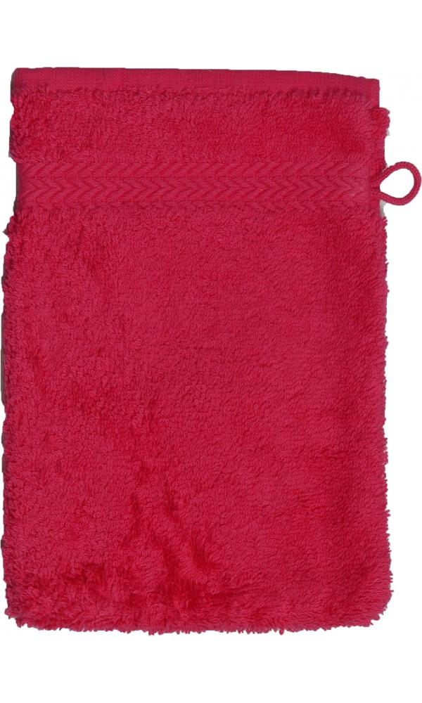 Gant de toilette 16 x 22 cm en Coton couleur Rose indien
