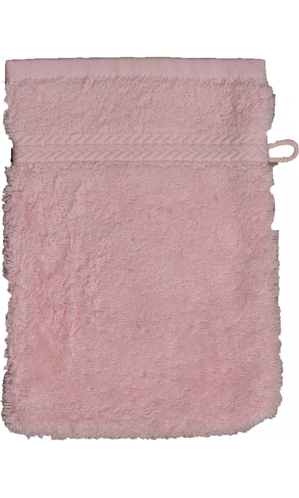 Gant de toilette 16 x 22 cm en Coton couleur Rose