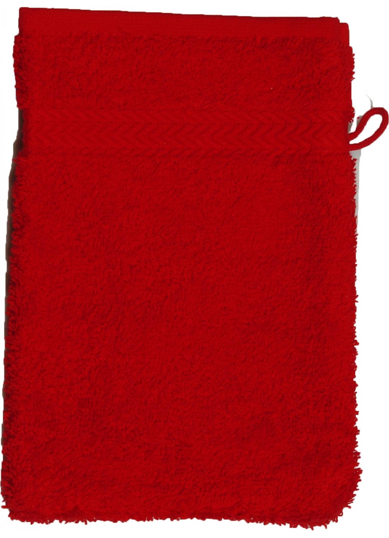 Gant de toilette 16 x 22 cm en Coton couleur Rubis (Rubis)