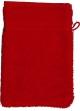 Gant de toilette 16 x 22 cm en Coton couleur Rubis Rubis