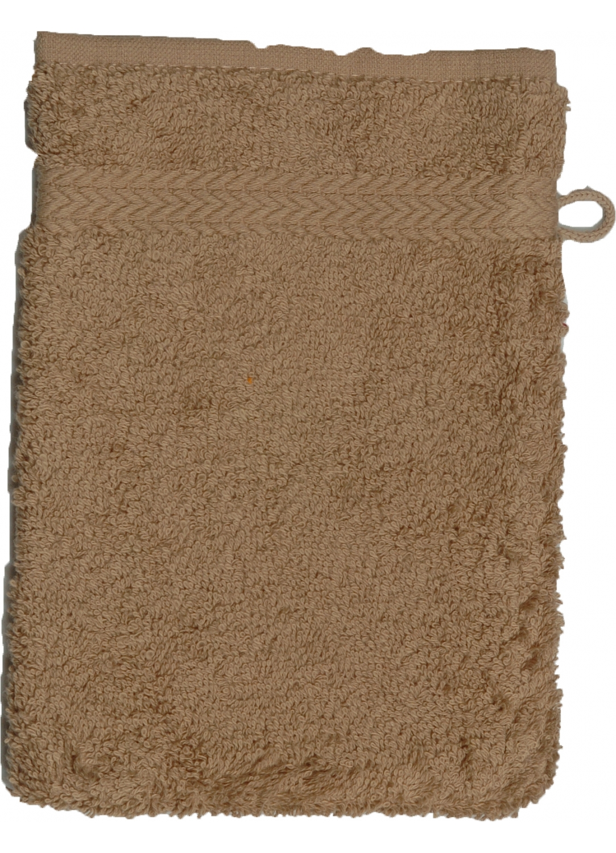 Gant de toilette 16 x 22 cm en Coton couleur Taupe (Taupe)