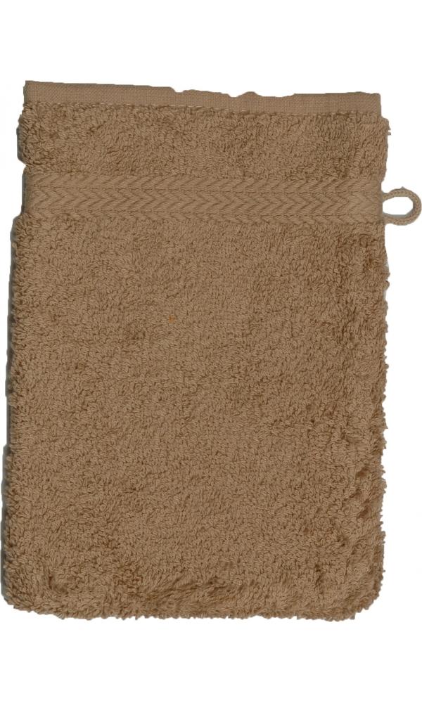 Gant de toilette 16 x 22 cm en Coton couleur Taupe