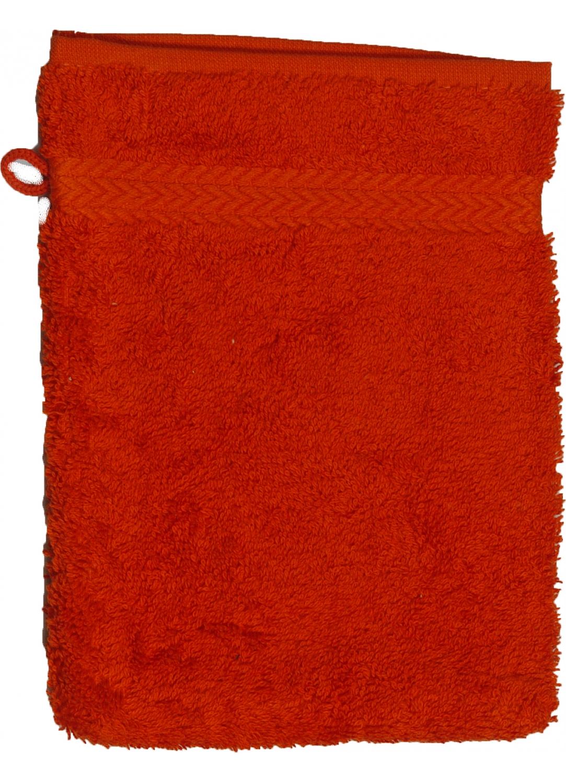 Gant de toilette 16 x 22 cm en Coton couleur Terracota (Terracota)