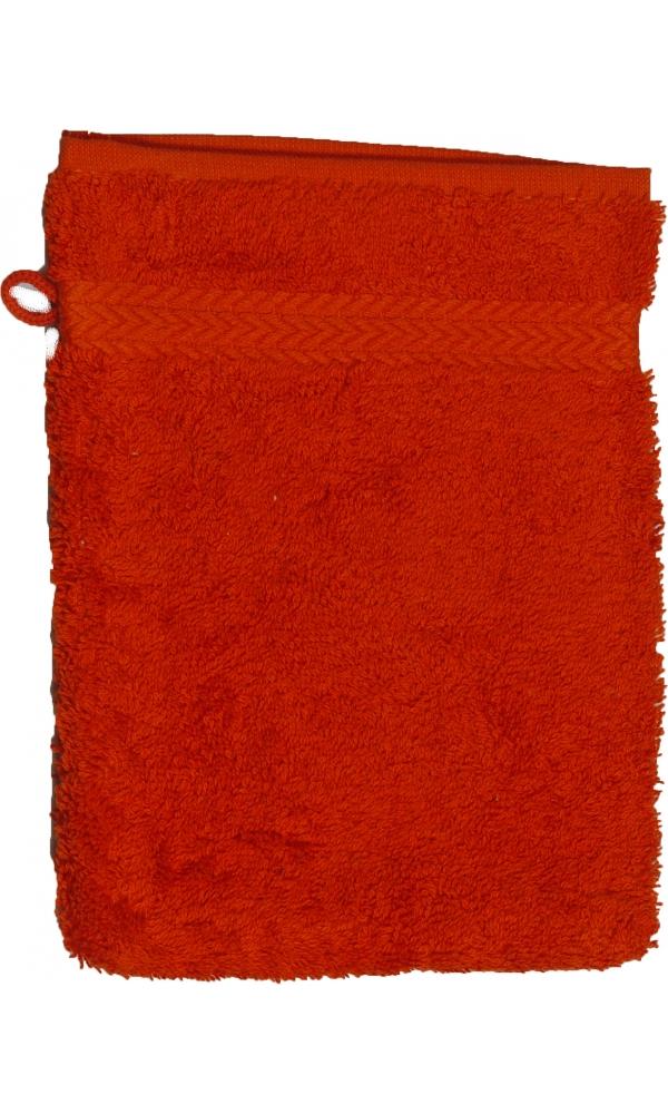 Gant de toilette 16 x 22 cm en Coton couleur Terracota