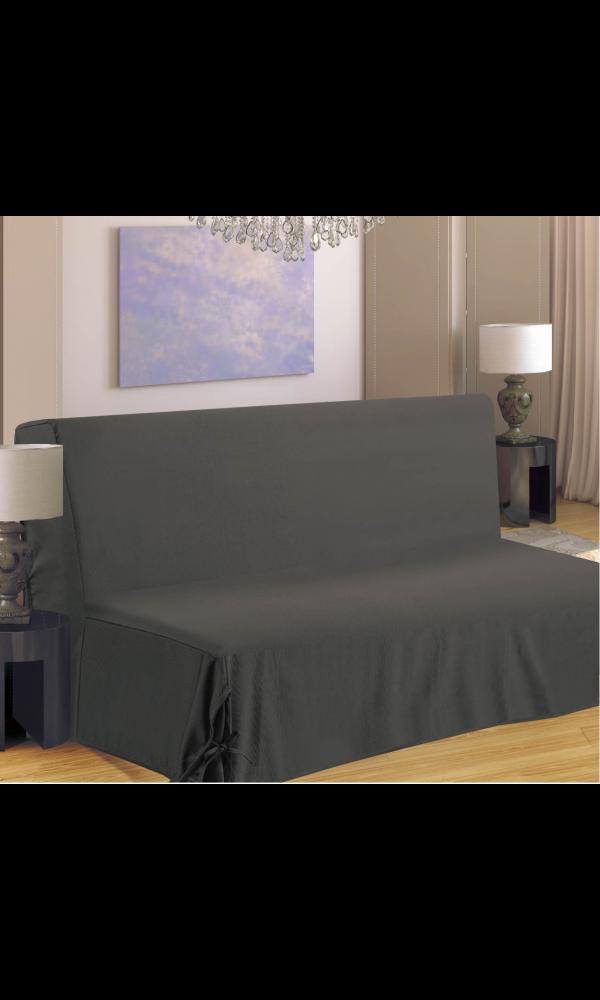 housse de clic clac nouettes gris gris homemaison. Black Bedroom Furniture Sets. Home Design Ideas