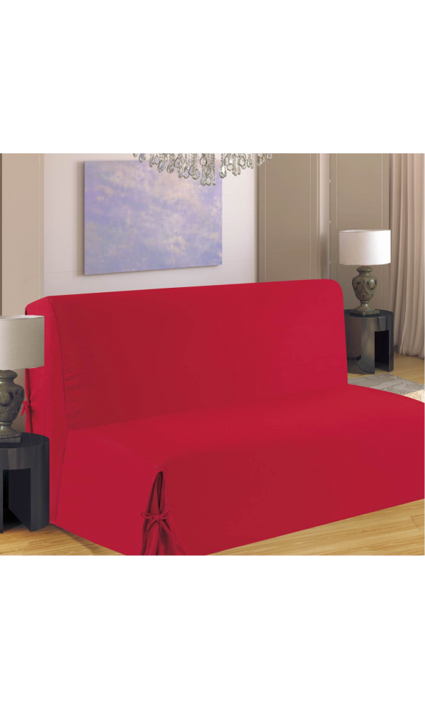 housse clic clac rouge maison design. Black Bedroom Furniture Sets. Home Design Ideas