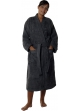 Peignoir col kimono en Coton couleur Anthracite Taille S Anthracite