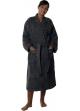 Peignoir col kimono en Coton couleur Anthracite Taille XXL Anthracite
