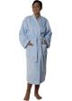 Peignoir col kimono en Coton couleur Ciel Taille M Ciel