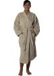 Peignoir col kimono en Coton couleur Ficelle Taille S Ficelle