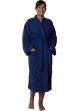 Peignoir col kimono en Coton couleur Marine Taille XXL Marine