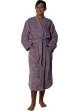 Peignoir col kimono en Coton couleur Mûre Taille S Mûre