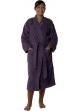 Peignoir col kimono en Coton couleur Myrtille Taille L Myrtille