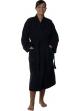 Peignoir col kimono en Coton couleur Noir Taille M Noir