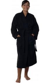 Peignoir col kimono en Coton couleur Noir Taille S