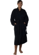 Peignoir col kimono en Coton couleur Noir Taille S Noir