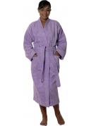 Peignoir col kimono en Coton couleur Parme Taille L