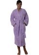 Peignoir col kimono en Coton couleur Parme Taille L Parme