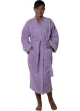 Peignoir col kimono en Coton couleur Parme Taille XL Parme