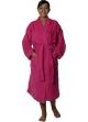 Peignoir col kimono en Coton couleur Rose indien Taille XL Rose Indien