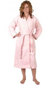 Peignoir col kimono en Coton couleur Rose Taille L