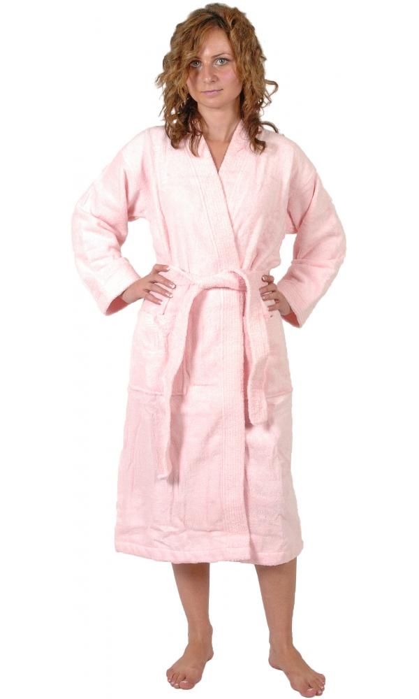 Peignoir col kimono en Coton couleur Rose Taille L - Rose - L