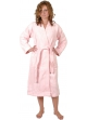 Peignoir col kimono en Coton couleur Rose Taille L Rose