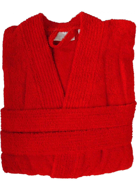 Peignoir col kimono en Coton couleur Rubis Taille L (Rubis)
