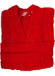 Peignoir col kimono en Coton couleur Rubis Taille L Rubis