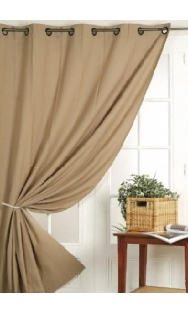 rideau 100 occultant vu sur d co beige noir anis gris taupe ivoire prune. Black Bedroom Furniture Sets. Home Design Ideas