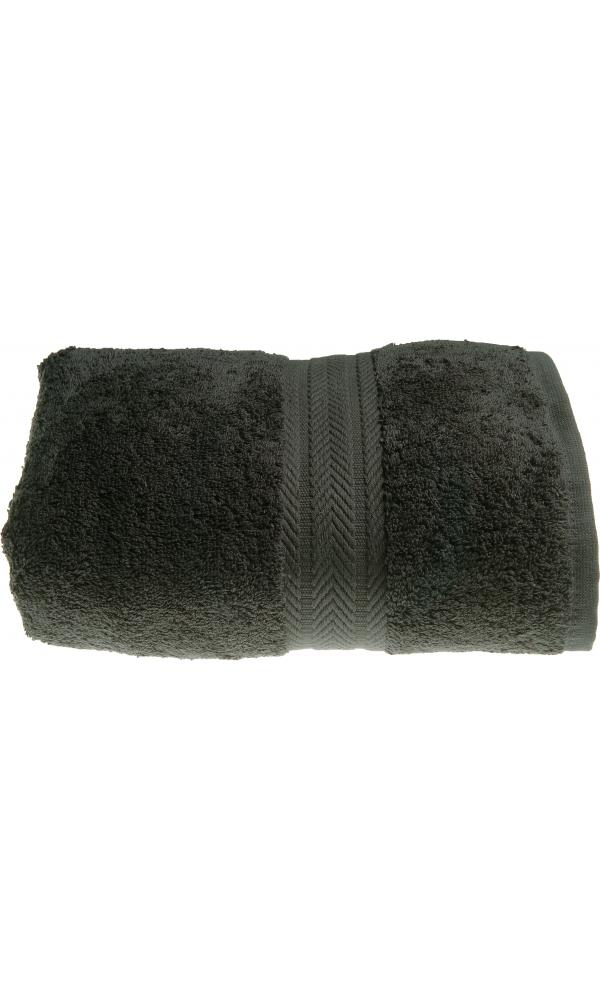 Serviette de toilette 50 x 100 cm en Coton couleur Anthracite