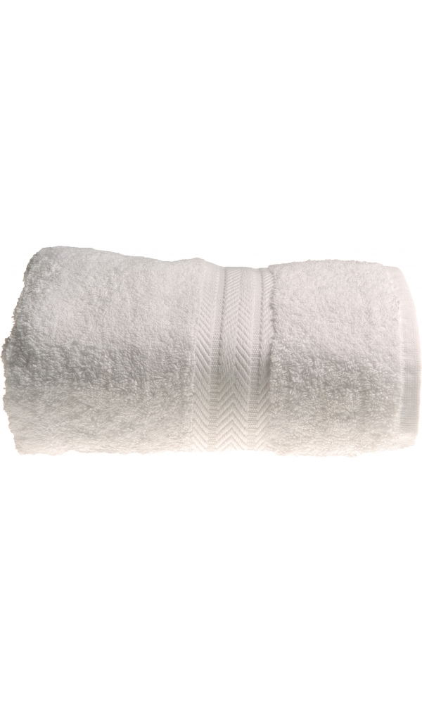 Serviette de toilette 50 x 100 cm en Coton couleur Blanc - Blanc - 50x100 cm