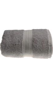 Serviette de toilette 50 x 100 cm en Coton couleur Gris perle