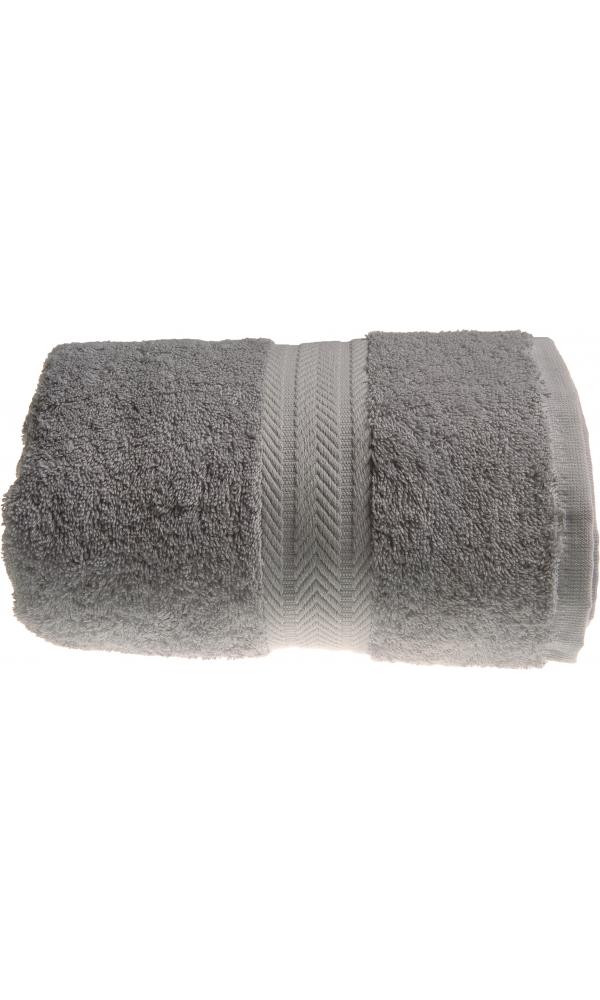 Serviette de toilette 50 x 100 cm en Coton couleur Gris perle (Gris Perle)