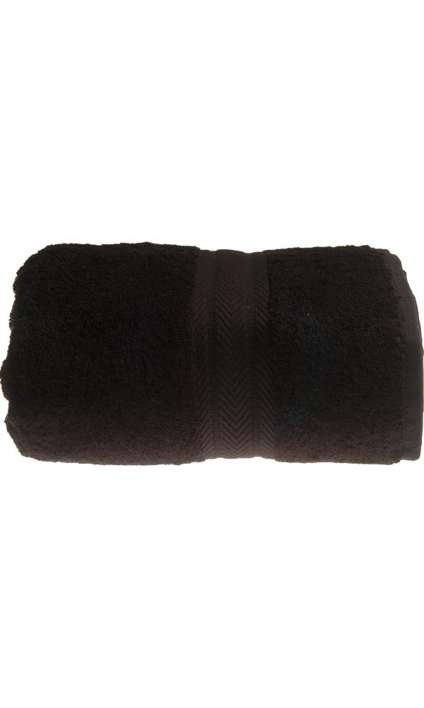 Serviette de toilette 50 x 100 cm en Coton couleur Noir (Noir)