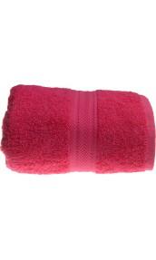 Serviette de toilette 50 x 100 cm en Coton couleur Rose indien