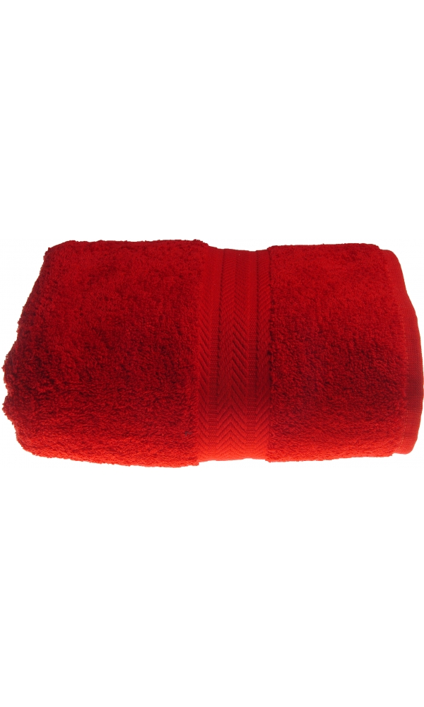 Serviette de toilette 50 x 100 cm en Coton couleur Rubis (Rubis)