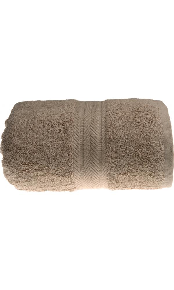 Serviette de toilette 50 x 100 cm en Coton couleur Taupe - Taupe - 50x100 cm