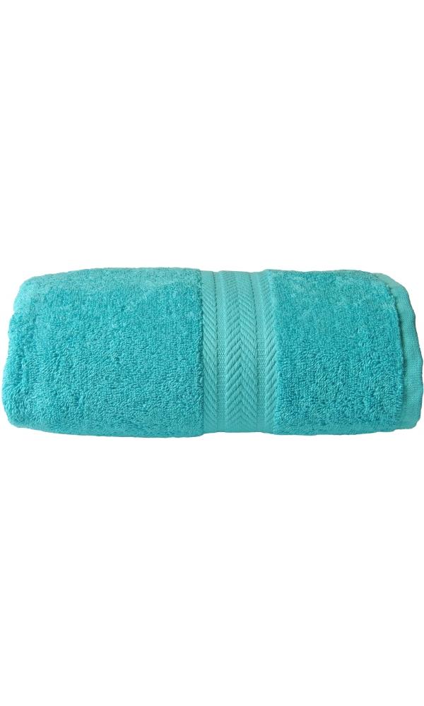 Serviette invitée 30 x 50 cm en Coton couleur Bleu turquoise