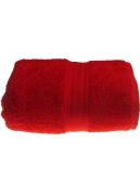 Serviette invitée 30 x 50 cm en Coton couleur Rubis