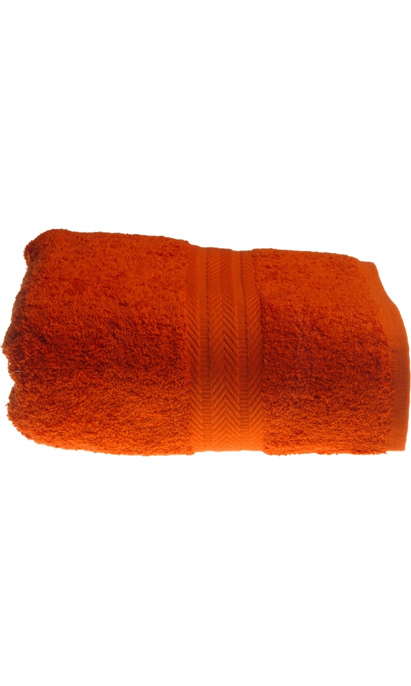 Serviette invitée 30 x 50 cm en Coton couleur Terracota