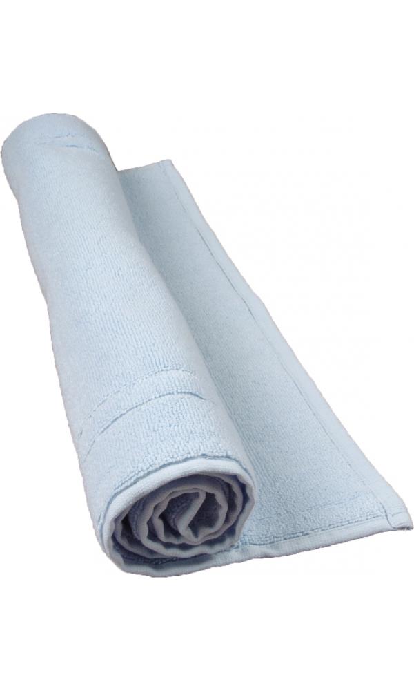 Tapis de bain 50 x 80 cm en Coton couleur Ciel