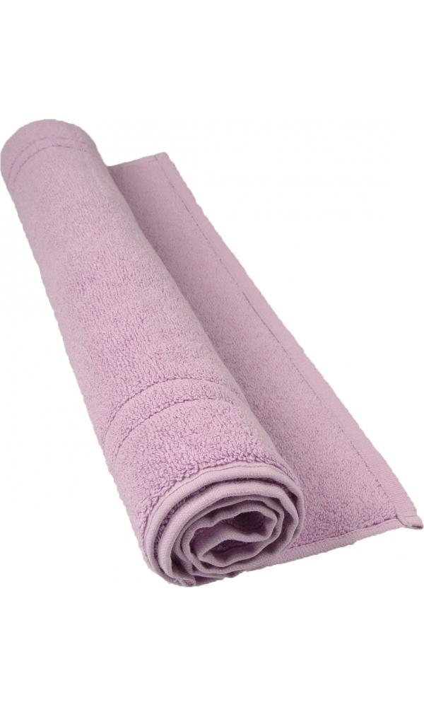 Tapis de bain 50 x 80 cm en Coton couleur Parme